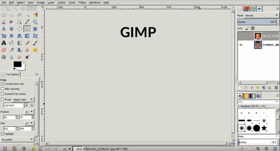 Jak wkleić głowę w GIMP?